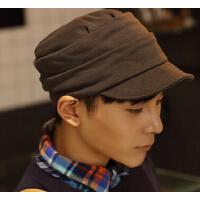 新款男士男平顶帽 韩版休闲帽子 时尚户外帽子韩版潮流帽子