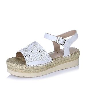 BASTO/百思图夏季专柜同款牛皮女凉鞋TUC01BL6