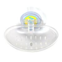 易时代 创意透明单双格肥皂盒卫生间/厨房/淋浴用ABS+PVC