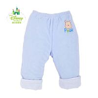 迪士尼宝宝 快乐童年开闭裆夹棉长裤 婴幼儿可开档裤子