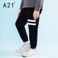 以纯A21童装针织裤中大童2016冬装新品 休闲男童运动裤针织长裤