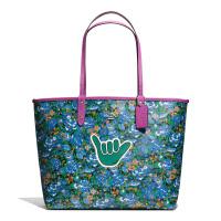 【当当自营】蔻驰(COACH)新款女士涂层帆布印花手提包双面包子母包女包  F57667