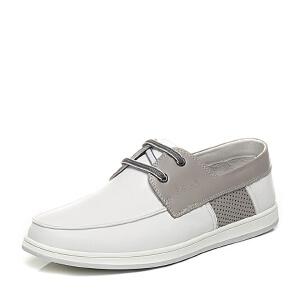 Belle/百丽专柜同款夏季时尚休闲男单鞋4KU01BM6