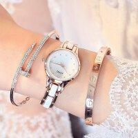 正品金米欧时尚潮流气质名媛简约水钻石英表小清新手链女手表450
