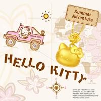周大福珠宝Hello Kitty凯蒂猫足金黄金吊坠 R13824【周大福佳礼 可礼品卡购】
