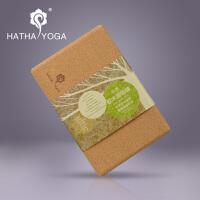 哈他瑜伽砖新品yoga原生态天然软木瑜伽健身高密度环保硬砖