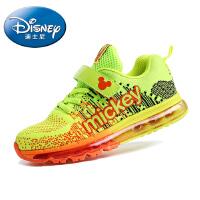 迪士尼儿童鞋2016春季新款小王子男童鞋女童运动鞋绘本女大童鞋全掌型气垫飞线运动鞋