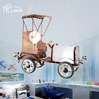 祺家 现代简约LED复古怀旧儿童房创意老爷车吊灯KD05