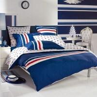 多喜爱 四件套纯棉全棉床上用品家纺简约床品欧美条纹套件 运动风潮
