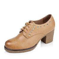 Tata/他她专柜同款羊皮女单鞋BL2XDCM5