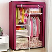 索尔诺加固钢管布衣柜 防尘简易衣柜 钢架挂衣柜 衣橱1305