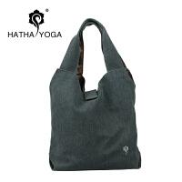 哈他yoga瑜伽背包/加厚纯棉帆布/瑜伽服/折叠橡胶愈加垫*