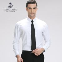 浪登秋季新品男士长袖衬衫中青年男装免烫 商务绅士竹纤维衬衫YF501