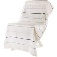 [当当自营]三利 纯棉缎条加大浴巾 成人抹胸巾  70*140cm 三色可选