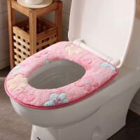 【可货到付款】欧润哲 4只装 卫生间珊瑚绒制马桶垫 魔术贴款保暖厕所垫防水