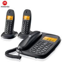 摩托罗拉cl102c 数字无绳电话机 办公子母机 家用无线座机 一拖二