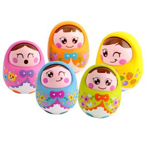 汇乐点头不倒翁娃娃 摇晃有铃声可爱幼儿宝宝早教益智玩具0-1岁
