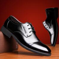 【秋冬季新品】英伦风男皮鞋 时尚潮流牛二层皮鞋男款商务休闲正装皮鞋3665JLF