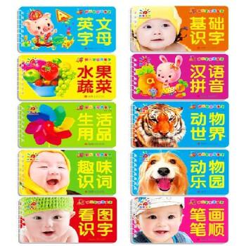 全10册阳光宝贝我爱学辑 英文字母动物汉语拼音水果蔬菜看图基础识字