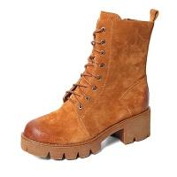 Teenmix/天美意专柜同款二层牛皮女皮靴6D161DZ5 专柜1
