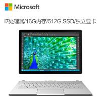 微软(Microsoft)Surface Book 二合一平板笔记本 13.5英寸 Intel i7 16G内存 512G存储 独立显卡 银色官方标配