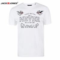 杰克琼斯/JackJones时尚百搭新款T恤 鸟-39-2-1-215301014020