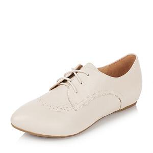 BASTO/百思图专柜同款山羊皮女单鞋TTK45CM5
