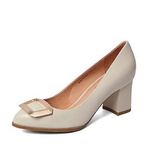 BASTO/百思图春季专柜同款羊皮女单鞋16A48AQ6