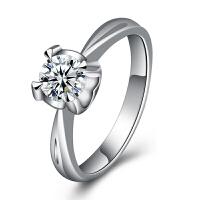 梦克拉 18K金钻石戒指 如影随形 k金钻戒 婚戒 结婚戒指 订婚戒指单钻镶嵌 可礼品卡购买