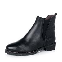 BATA/拔佳小牛皮女短靴AJ455CD6