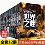 少年探索发现系列全12册 小学生版世界未解之谜大全集 你不可不知的恐龙动物海洋地球自然人类宇宙科学UFO与外星人兵器宝