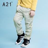 以纯A21童装男童运动裤2016秋冬新款 宽松保暖儿童加绒运动长裤