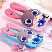 疯狂动物城苹果6S手机壳 5SE硅胶保护套 iPhone6朱迪兔子女挂绳卡通手机套