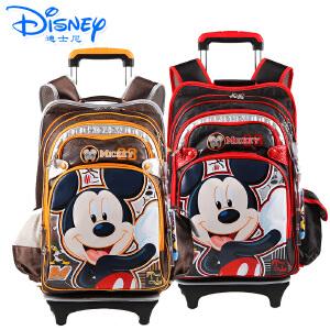 迪士尼米奇米妮小学生儿童可拆卸带防雨罩拉杆书包MB0319