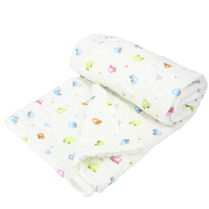 久爱久水洗纱布浴巾 白色六层加厚礼盒装 105*80cm