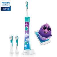 【包邮】飞利浦电动牙刷HX6322儿童牙刷充电声波震动电动牙刷智能音乐定时(标配自带2支刷头)