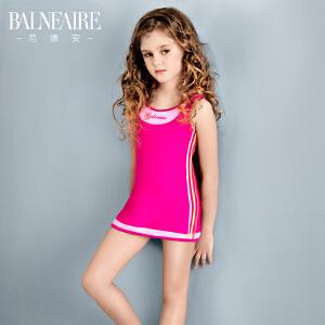 范德安2016专业儿童泳衣女童连体裙式可爱防晒速干大中童游泳衣