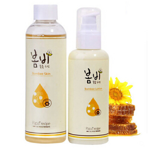 papa recipe/春雨蜂蜜保湿乳液150m+爽肤水200ml