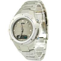 O.T.S 奥迪斯 双机芯手表 时尚多功能电子双显 户外运动 钢带男士手表T9107G