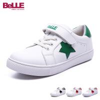 百丽Belle童鞋简约时尚小白鞋男女童学生鞋百搭儿童运动鞋户外休闲鞋