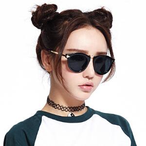 inmix音米欧美复古圆形墨镜女潮人太阳镜女经典偏光时尚太阳眼镜