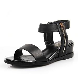 BASTO/百思图年夏季专柜同款小牛皮革女凉鞋TST01BL6 专柜2