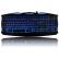 雷技 x-man电脑背光发光键盘 笔记本有线时尚USB游戏键盘 魔兽键盘 炫蓝背光游戏键盘,灯光可调节通过开关自由关闭