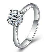 梦克拉 PT950铂金钻石戒指 情韵 铂金钻戒 钻饰女戒 婚戒 结婚戒指 订婚戒指 群镶钻 可礼品卡购买