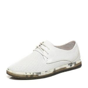 Belle/百丽专柜同款夏季时尚休闲男单鞋4LA01BM6