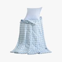 当当优品家纺 水洗棉裸睡夏凉被 110x150单人空调被 俏丽(蓝)