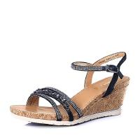 Belle/百丽夏专柜同款羊皮革休闲舒适女凉鞋3RMF2BL6