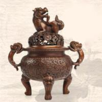 香炉紫铜纯铜手工熏香炉佛堂香炉香道香炉礼品
