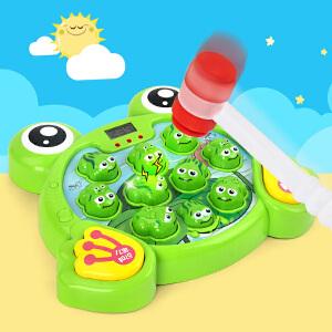 儿童大号打地鼠幼儿音乐敲击游戏机中英文双语音 宝宝益智玩具