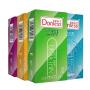 多乐士避孕套新版双保系列3盒 新版时尚水溶系列1盒 安全套共48只纤薄 浮点 螺纹 情趣 成人用品